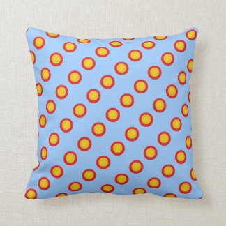 Sky Blue Geometric Pillow