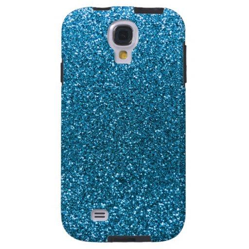 Sky blue glitter galaxy s4 case