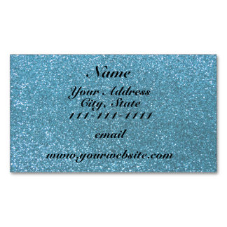 Sky blue glitter magnetic business cards (Pack of 25)