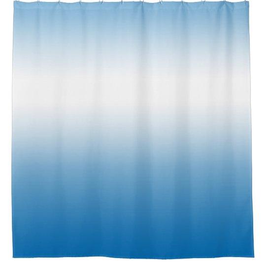 Sky Blue Gradual Colour Ombre Shower Curtain