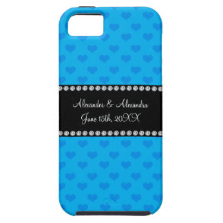 Sky blue hearts wedding favors iPhone 5 covers