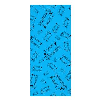 Sky blue I love gymnastics Rack Card Template