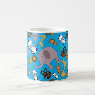 Sky blue jungle safari animals mug