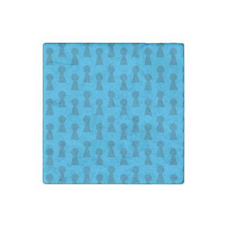 Sky blue keyhole pattern stone magnet
