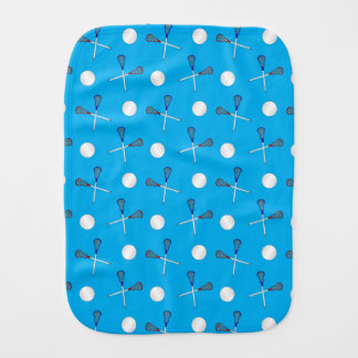 Sky blue lacrosse pattern burp cloth