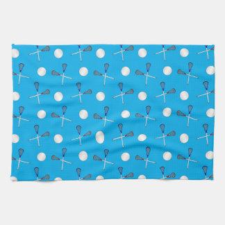 Sky blue lacrosse pattern tea towel