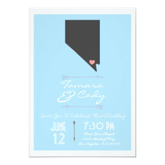 Sky Blue Las Vegas, Nevada Wedding Invitation