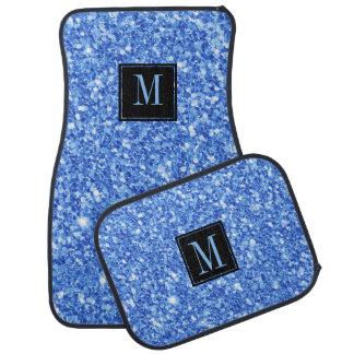 Sky blue modern glitter texture car mat