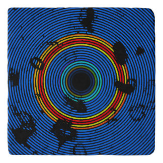 Sky Blue Multicolored Burner Pattern Trivet
