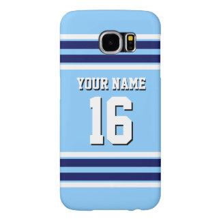 Sky Blue Navy White Team Jersey Sports Jersey Samsung Galaxy S6 Cases
