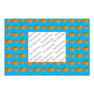 Sky blue oranges pattern photo