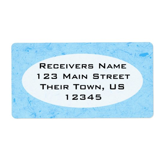 Sky Blue Papyrus Shipping Label