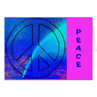 Sky Blue Peace Sign Greeting Card