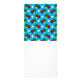 Sky blue ping pong pattern rack card