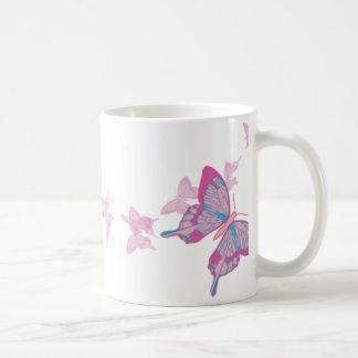 Sky Blue Pink Butterfly Mug