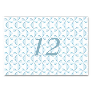 Sky Blue Pinwheels Table Cards