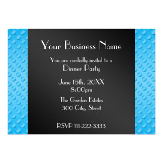 Sky blue polka dots Business invitation