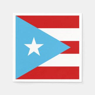 Sky Blue Puerto Rico Flag Paper Napkins