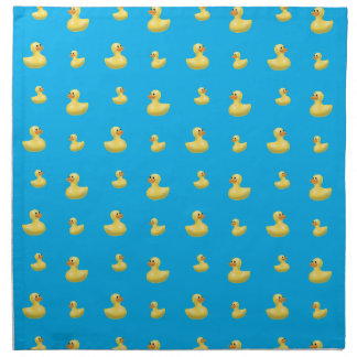 Sky blue rubber duck pattern napkin