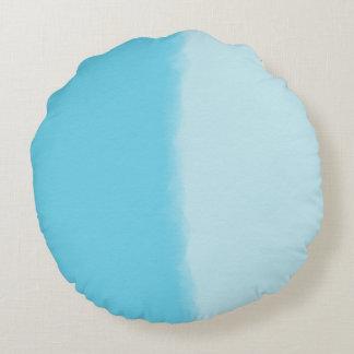 Sky Blue Shaded Decorative Round Cushion