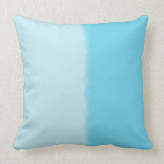 Sky Blue Shaded Decorative Throw Pillow