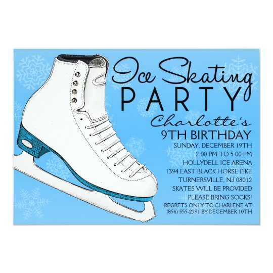 Sky Blue Skate Mates Ice Skating Birthday Party