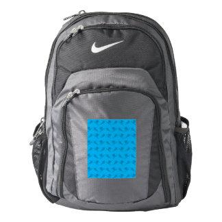 Sky blue ski pattern backpack