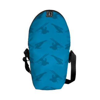 Sky blue ski pattern courier bags
