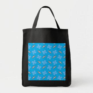 Sky blue snowboard pattern bags