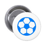 "Sky Blue ""SOCCER BALL"" image Buttons"
