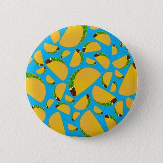 Sky blue tacos 6 cm round badge