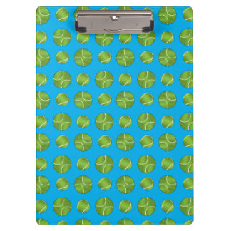 Sky blue tennis balls clipboard