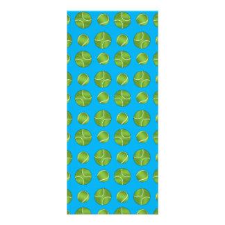 Sky blue tennis balls rack cards
