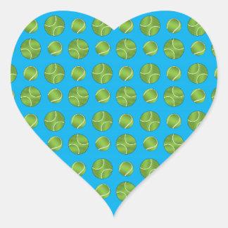 Sky blue tennis balls heart sticker