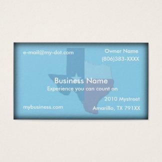 Sky Blue Texas Flag Map Business Card
