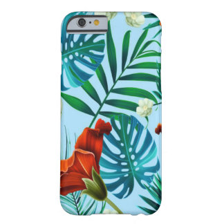 Sky blue tropical floral barely there iPhone 6 case