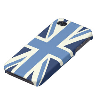 Sky Blue Union Jack Cover For iPhone 4