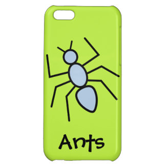 Sky Blue Vector Ant (Grass Green Background) iPhone 5C Case