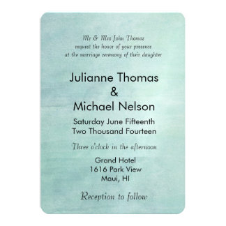 Sky Blue Watercolor Wedding 13 Cm X 18 Cm Invitation Card