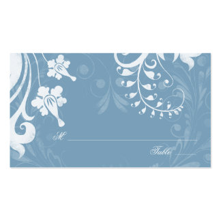 Sky Blue White Floral Wedding Place Cards Pack Of Standard Business Cards