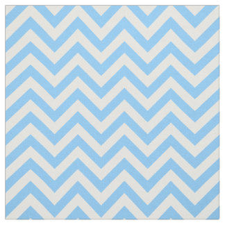 Sky Blue White LG Chevron ZigZag Pattern 12I Fabric