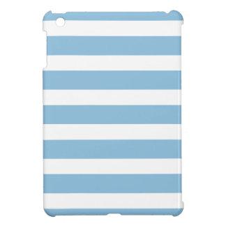 Sky Blue Wide Stripes iPad Mini Cover
