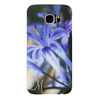 Sky Blue Wildflowers Monogram Galaxy S6 Case Samsung Galaxy S6 Cases