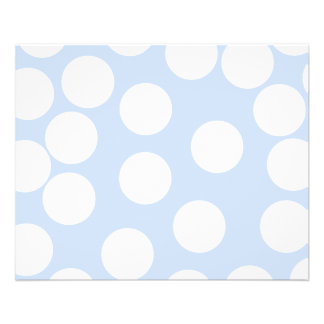 Sky blue with large white dots. Custom Personalized Flyer