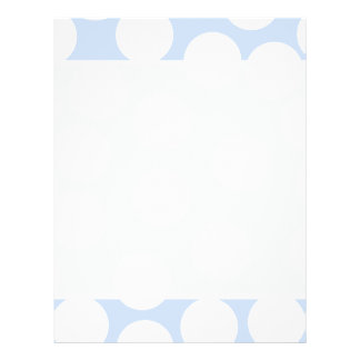 Sky blue with large white dots. Custom Flyer