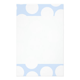 Sky blue with large white dots Custom Flyer Design