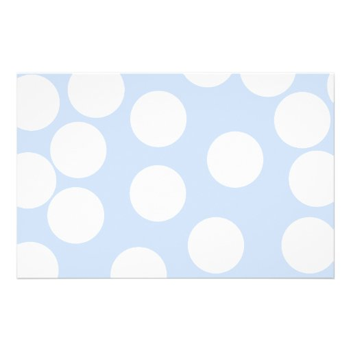 Sky blue with large white dots. Custom Full Color Flyer