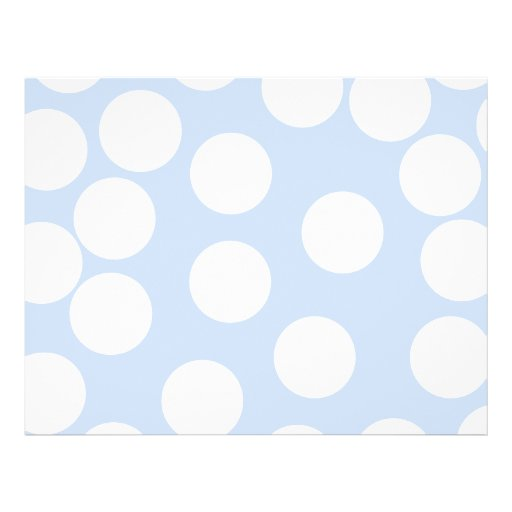 Sky blue with large white dots. Custom Flyer Design