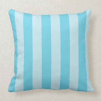 Sky Blue Zen Stripes Decorative Throw Pillow