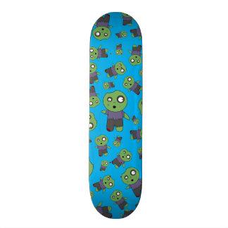 Sky blue zombies skate deck